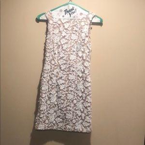 Aidan Mattox white floral dress